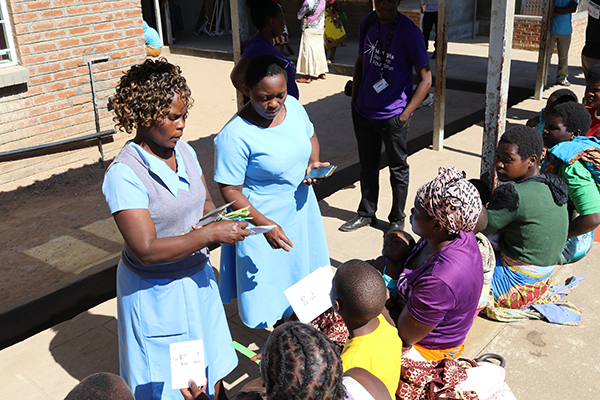 Health workers conducting triage - Ndirande Health Centre, Blantyre