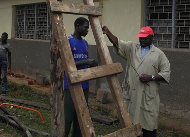 Building work in Uganda
