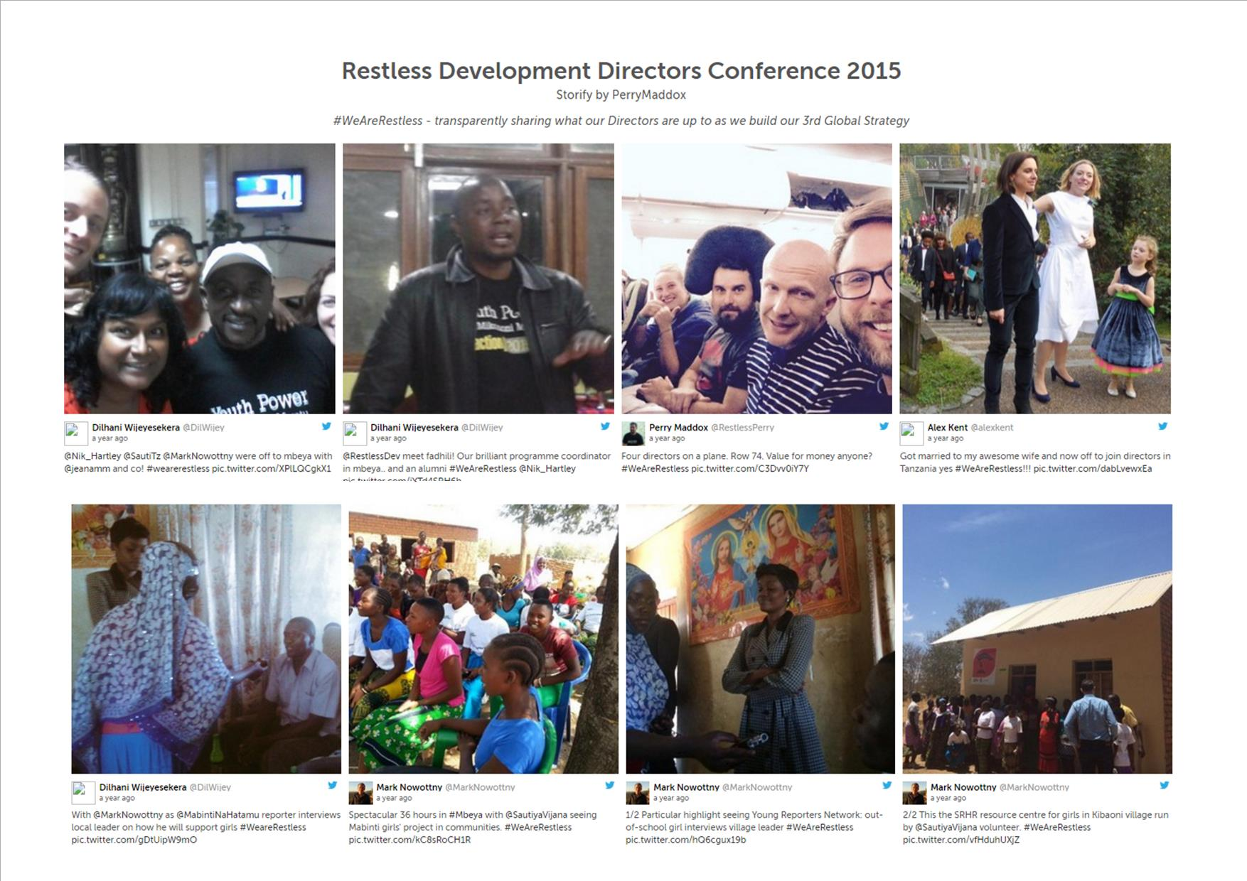 Director's conference Storify screengrab