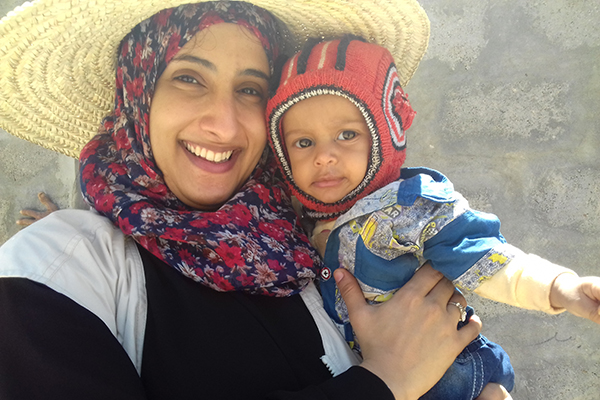 Doaa and child treated in IMC supported MTs