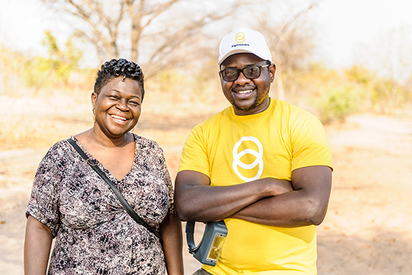 Dr Agatha Aboe with Givemore Mafukidze