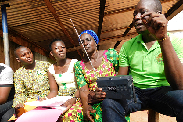 Lorna Young Foundation,Farmers Voice Radio Listener Group in action, Tamale,Ghana May 2019
