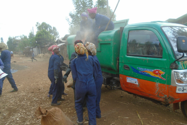 Micro and small enterprises engaging in solid waste collection