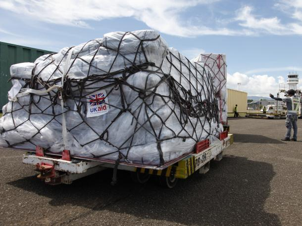 Truck with supplies at an airport