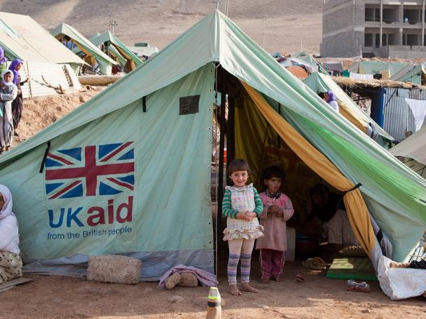 Shelter provided by UK aid for people displaced by Daesh in Iraq