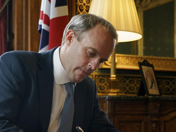 Foreign Secretary Dominic Raab signs 'Dear Colleague' letter to MPs following launch of new Global Human Rights Sanctions Regime Designations