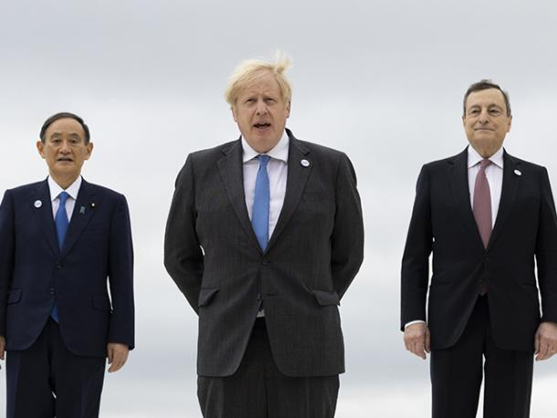 Prime Minister Boris Johnson G7 Leaders Summit Day One in Carbis Bay