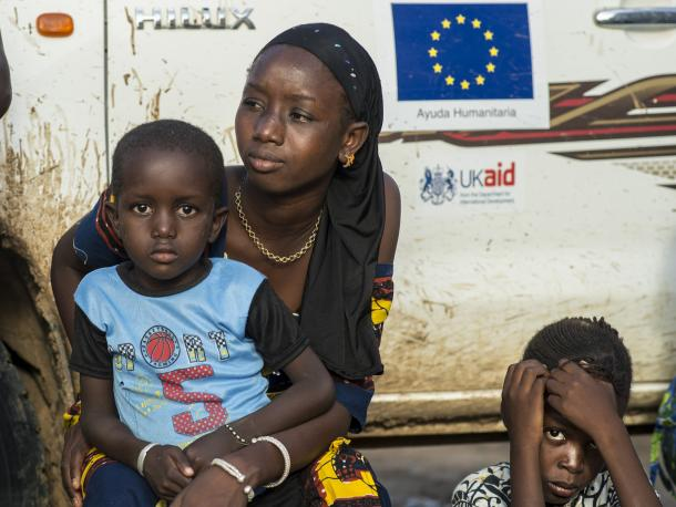 A young mother at awareness raising session in Mauritania