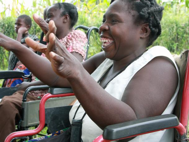 Wheelchair users in Africa