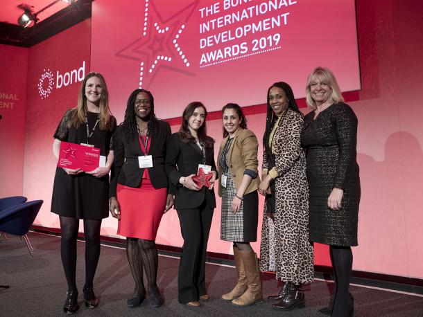 Plan International UK and Credit Suisse won the Corporate Partnerships Award at the Bond Awards