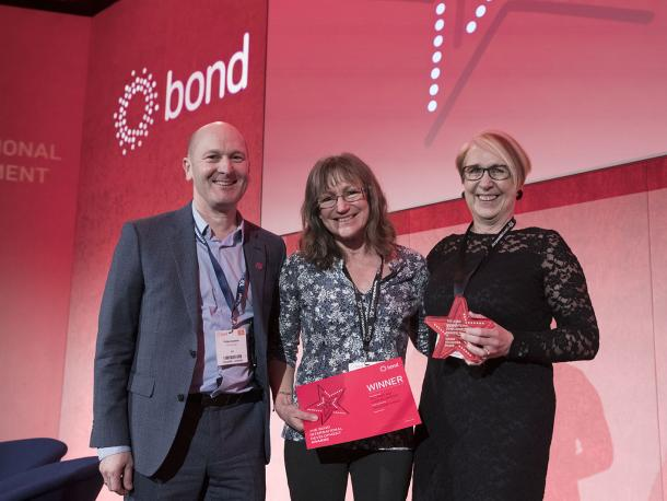 Gill Price and Linda Richardson won the Volunteer Award at the Bond Awards