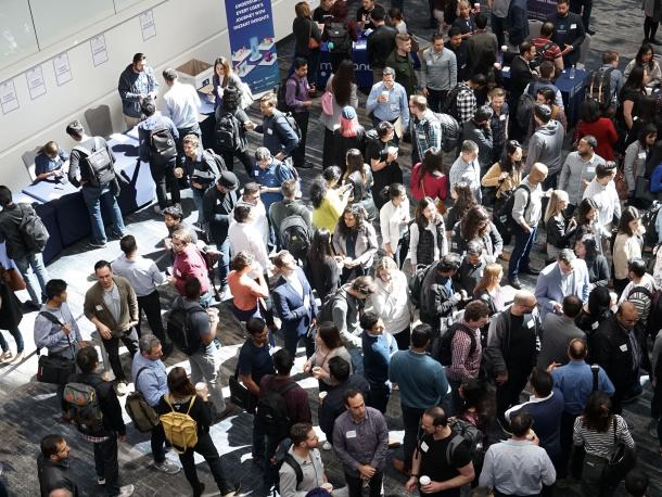 People at a conference