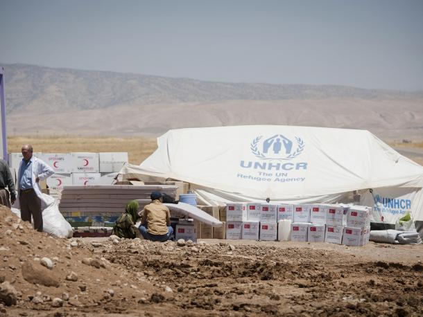 Camp for internally displaced persons near Mosul