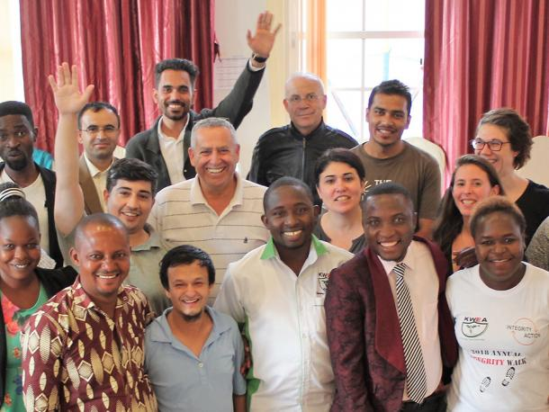 Eleven Integrity Action partner representatives came together from Afghanistan, DRC, Kenya, Nepal and Palestine at a workshop in Kathmandu in 2019