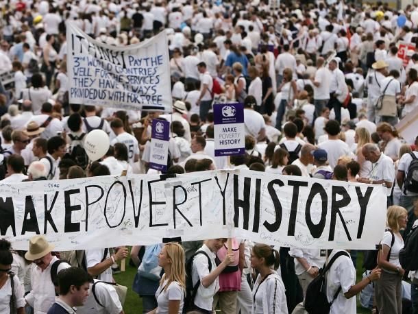 Make Poverty History march
