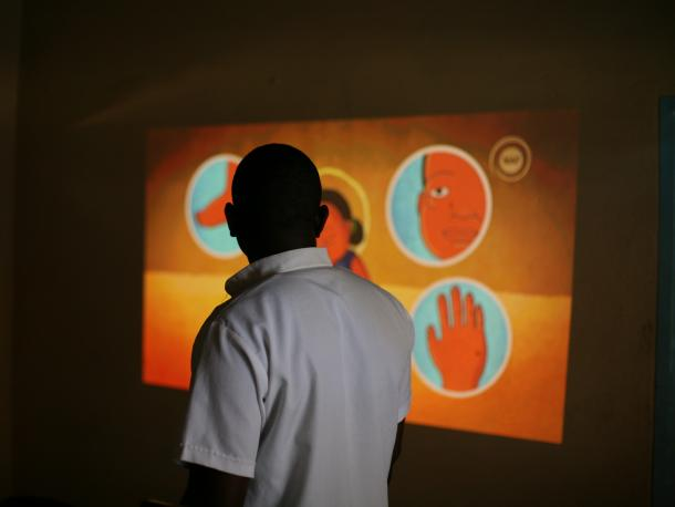 Medical Aid Films video projection