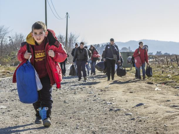 Refugees arriving in Macedonia