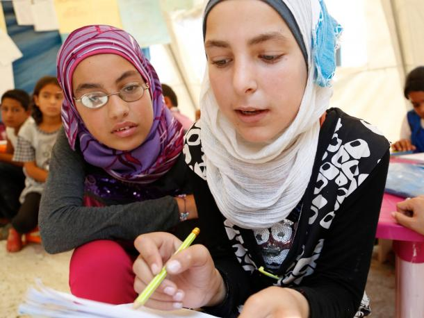 Working together to help Syrian refugee children in Lebanon