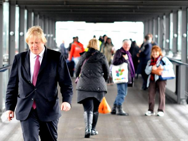 Boris Johnson in Croydon, UK