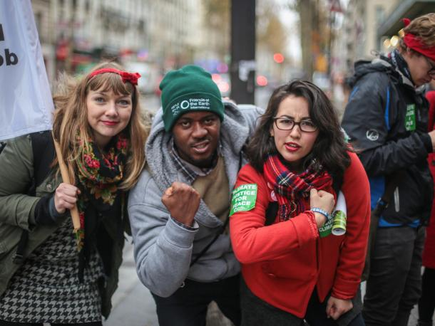 Friends of the Earth campaigners in Paris