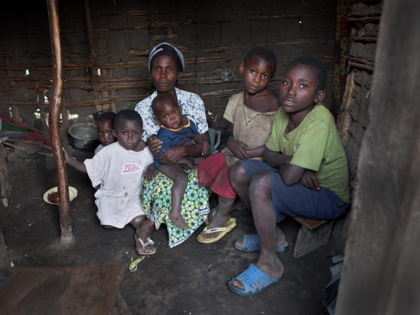 Esperenze Ndabuye, 30 has 9 children. Esperenze and her eldest daughter were raped after being shot to prevent them escaping when soldiers broke into their home