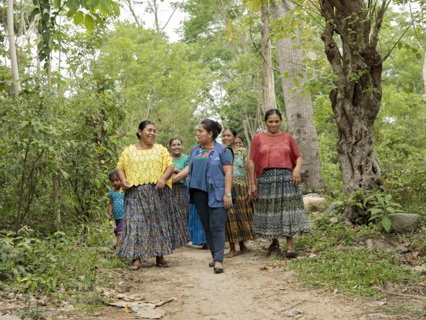 Group of rural women in Guatemala