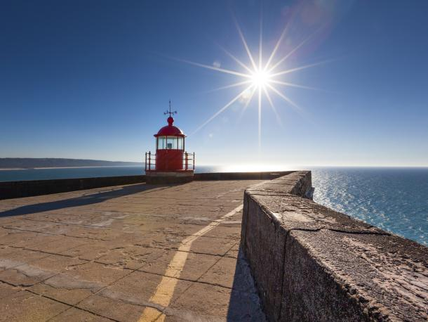 Lighthouse in the sun
