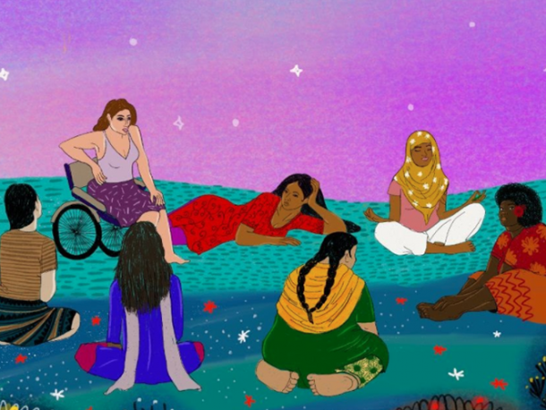 Illustration created by Vidushi and her team for Urgent Action Fund Asia and Pacific