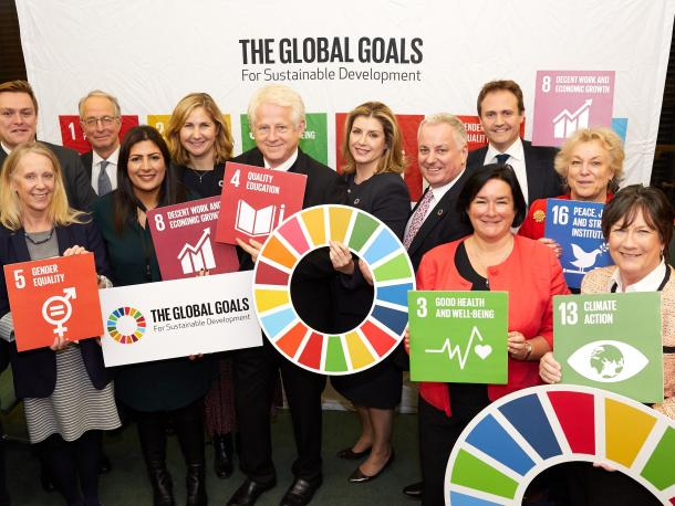Parliamentarians including Penny Mordaunt supporting the SDGs