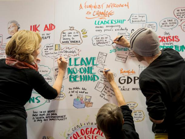 SDG Wall at Bond Conference 2018