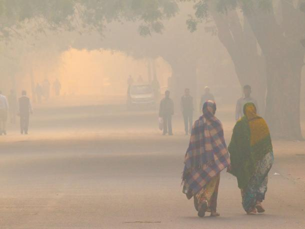 Air pollution in New Delhi, India