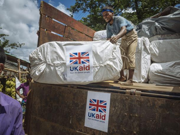 UK aid for refugees in Burma
