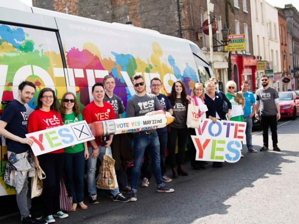 Supporters of the marriage equality campaign