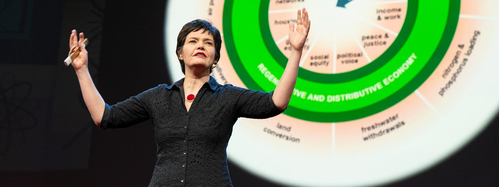 Kate Raworth speaks at TED2018 in Vancouver