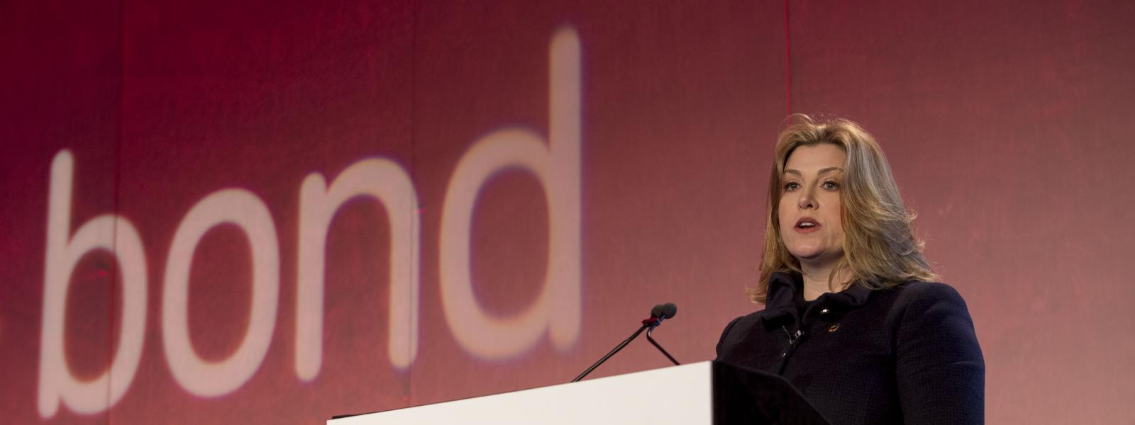 Penny Mordaunt speaking at Bond Conference 2018