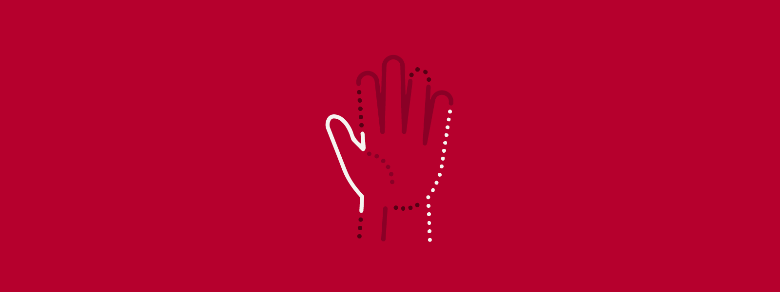 Graphic of open hand