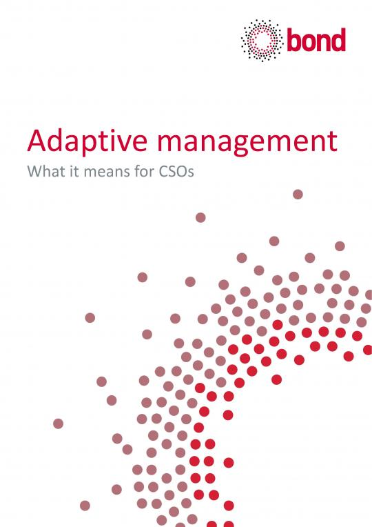 Adaptive management - what it means for CSOs
