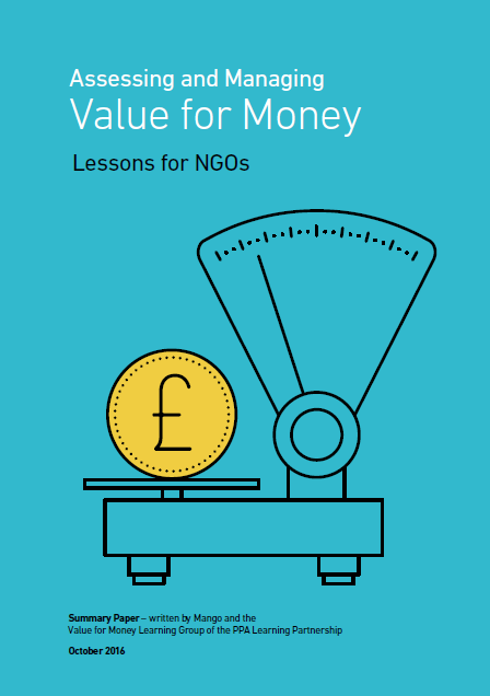 Assessing and managing value for money summary report cover