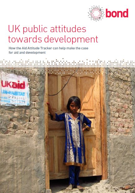 Report cover UK public attitudes towards development