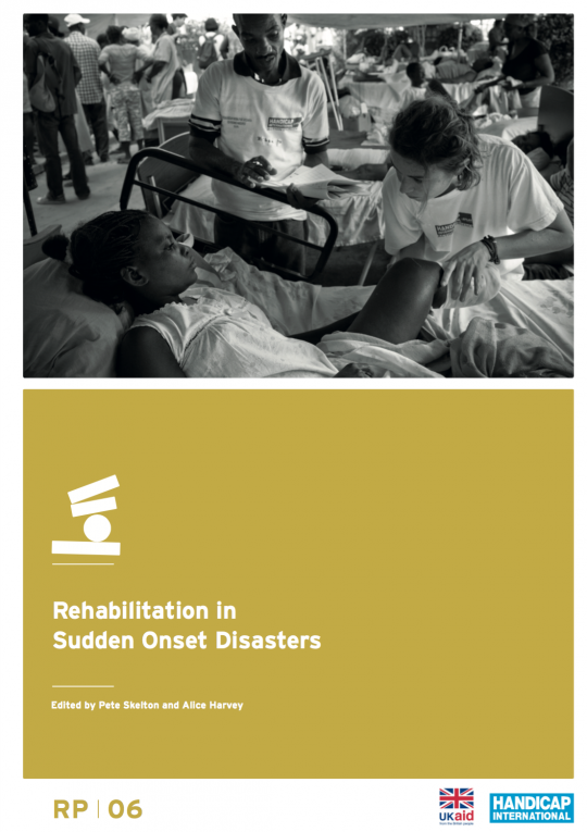 Rehabilitation in Sudden Onset Disasters manual cover