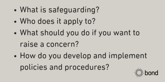 Safeguarding guidance