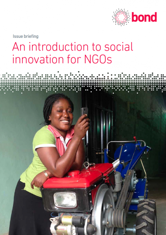 Social innovation for NGOs report cover