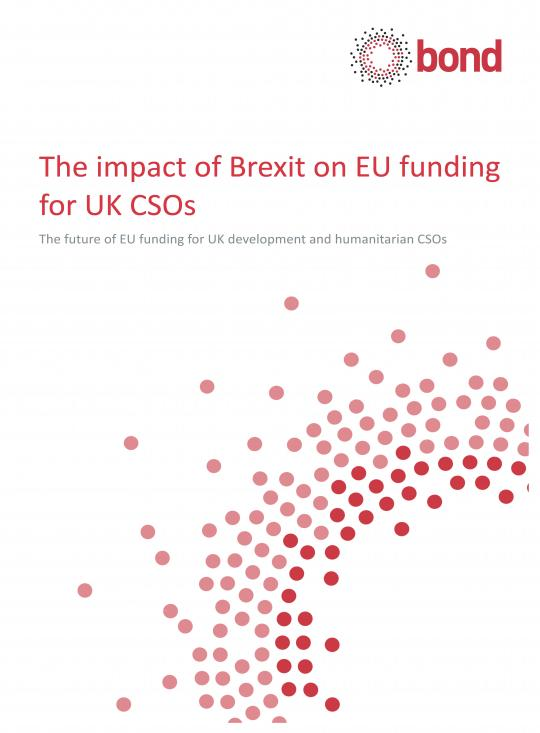 The impact of Brexit on EU funding for UK CSOs front cover