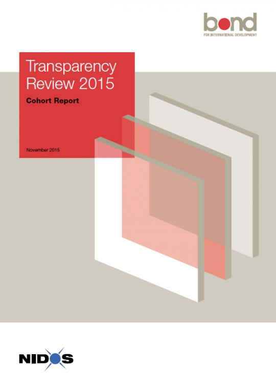Cover of the Transparency Review 2015 report