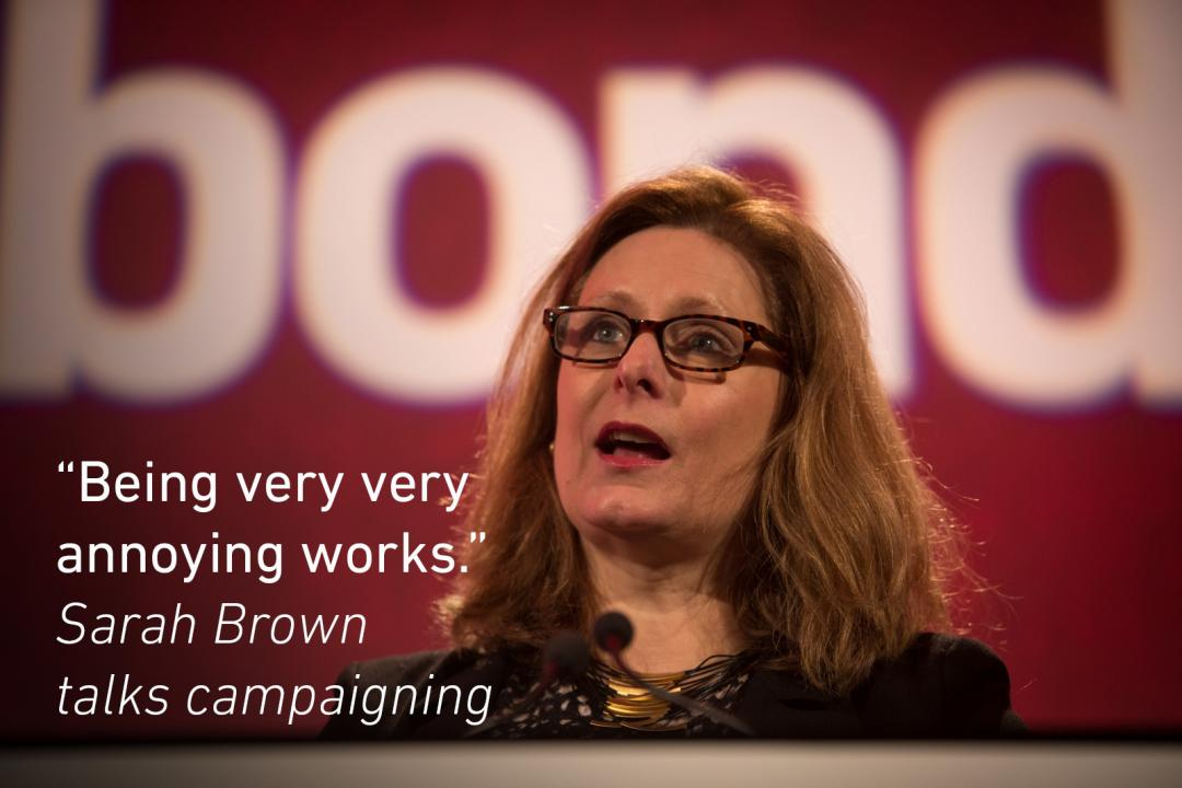 Sarah Brown talks campaigning at the Bond conference 2016
