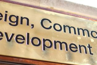 The new Foreign, Commonwealth & Development Office sign