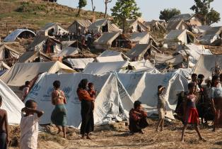 Emergency food, drinking water and shelter to help people displaced in Rakhine State, western Myanmar.