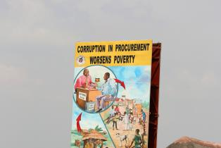 Anti-Corruption poster in Uganda