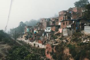 Dalit slum quarter in Haridwar, India