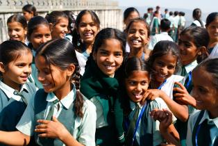 Children at school in Rajasthan, India